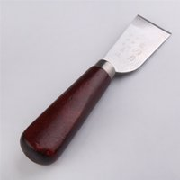 ao knife - New Home decoration tools Leather Cutting Knife Craft Tool with Wooden Handle Stainless Steel high quality AO P