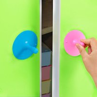 pvc cabinet doors - 10pcs Sucker PVC material drawer handles door window cabinet door assist handle beautiful door finish