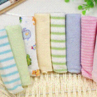baby wipes pack - 8pcs Towels for kids Pack Baby Face Washers Hand Towels Cotton Wipe Wash Cloth Gift baby Towels