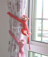Wholesale Householder Creative Cute Plush monkey curtain Clip curtain buckle curtain strap Kid s toy Multicolor