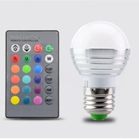 Wholesale Super Discount W RGB Lights Change Color AC85V V E27 E14 Holiday Party Mood Lighting LED Spotlights Colors Infrared Remote Control
