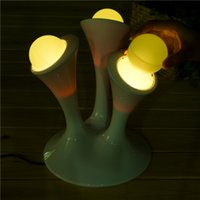 baby emergency - Hot LED Baby Lamps Bedroom Lighting Magic Night Lights Table Lamp Color Changing Light Modern Mushroom Lamp Colorful Fluorescent Lamp