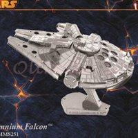Wholesale 600pcs CCA2950 New Arrival DIY D Models Metallic Nano Puzzle Star Wars Darth Vader Aircraft Toys No Glue Required Kids Adult Christmas Gift