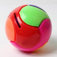 Wholesale DIY D building blocks assembled puzzle blocks colored balls to save money DIY assembly piggy
