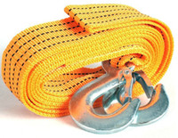 Wholesale 3 t m fluorescent nylon tow rope strong rally car essential emergency tow rope Carrying yellow tow rope car supplies a bag