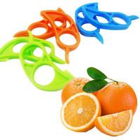 Wholesale 2015 new Fruit Vegetable Tools Orange Opener Peeler Slicer Cutter Plastic Lemon Citrus Fruit Skin Remover