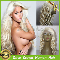 Wholesale Full Lace Wig Color Platinum Honey Blonde Human Hair Deep Body Wave Brazilian Virgin Remy Hair Lace Front Wig