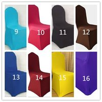 Wholesale Elastic Dining Polyester Stretch Lycra Wedding Spandex Chair Cover color DHL