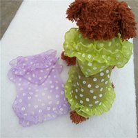 Wholesale Teddy pet dog clothes summer pink purple breathable sun protection clothing VIP Bichon puppy dog vest spring and summer Sunscreen clothes
