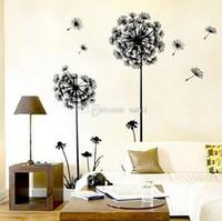 Wholesale Fashion Hot Creative Dandelion Wall Art Decal Sticker Removable Mural PVC Home Decor Gift