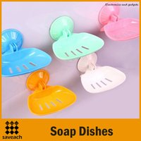 Wholesale 2015 New Wall shelf for Soap Holder Wall mounted Soap dishes Super suction Bathroom accessories Novelty household Color