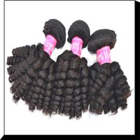 eurasian hair - A A Malaysian Peruvian Indian Eurasian virgin human hair Bundles Baby Curly bundles soft Smooth Natural Hair Extension