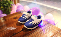 Wholesale 2016 New LED Light up Children Sneakers Kids Casual Net Surface Spring Summer Sports Shoes Toddlers Infant Walker Moccasins Wings Shoes