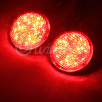 Wholesale 2x Car Auto Vehicle Red Round Brake Stop Tail Rear Light Lamp Bulb High Power