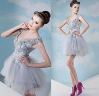 Cheap Reference Images homecoming dreses Best Organza V-Neck organza beads