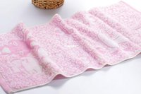 bamboo roving - Factory direct bamboo fiber roving yarn Tika through rabbit soft absorbent towel gift market explosion models