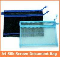 Wholesale A4 silk screen bill bag double decker zip bag cm cm Document bag order lt no track