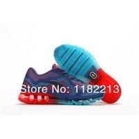 Wholesale 2014 man women running shoes sports shoes MAX shoes blue colour size