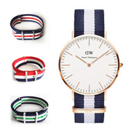 plastic strap - Hot Color Top Brand Daniel Wellington Watch Luxury Style DW Watches Men women Nylon Strap Military Quartz Wristwatch Reloj