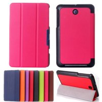 asus t case - Best Promotin Fashion Design Ultra Slim Tri Fold Stand PU Leather Folio Case Cover For Asus Memo Pad ME176C Holster Colors order lt no t