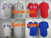custom baseball jersey - 2016 New Custom Men s Texas Rangers Jersey Throwback Baseball Jerseys Men Women And Youth Cool Base Home Away White Grey