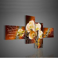 flower picture frame - Hand Painted Modern Decorative Oil Painting On Canvas Wall Art Flower Picture For Living Room set No Frame