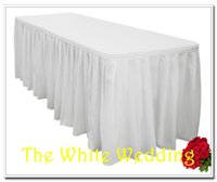 banquet tables for sale - polyester wedding table skirt for weddings amp banquet table ft width height for sale party table