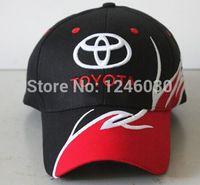 ball racer - NEW For TOYOTA black embroideried logo baseball cap hats car team racer Advertising Caps MOTO GP rider team hats snapbacks