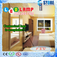 Wholesale 2015 Fashion New Led Lamp Projection Advertising Logo Projector Spot Light Can do customize Logo DHL FREE wu