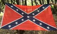 Wholesale Hot Confederate Rebel Civil War Flag Confederate Flag Confederate Battle Flags Two Sides Printed Flag National Polyester Flags