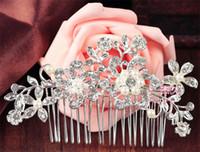 antique hair brush - 2015 Fashion Bridal Wedding Tiaras Stunning Fine Comb Bridal Jewelry Accessories Crystal Pearl Hair Brush