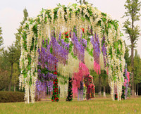 Cheap 2016 Fashion Wedding Decorations Artificial Flower Long Pudding Wedding Decoration Bridal Rattan Cane Plastic New Arrive Elegant