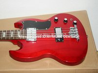 Cheap New Arrival Red 4 strings SG Electric Bass Guitar Wholesale Guitars Top Musical instruments