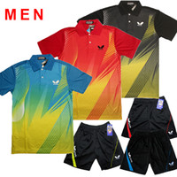 Wholesale Butterfly Table Tennis clothes Men Ping pong Jerseys table tennis shirt Team Sportswear table tennis jerseys