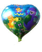 barney balloons - inch round shape barney balloons for birthday party Aluminium foil balloons cm cartoon helium balloons