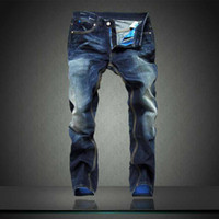 branded jeans - famous brands jeans for men new arrival Brand Mens Jeans Straight Bleached Printed Jeans Fashion Designer Ripped biker jeans Plus size