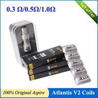 Precio de Bobinas atlantis v2-100% auténtico Aspire Atlantis Atlantis 2.0 V2 bobinas bobinas de 0,3 / 0,5 / 1,0 ohmios opcional en forma de atomizador Atlantis Atlantis bobinas