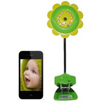 Wholesale New Arrival Night Vision Sun Flower WIFI Camera Compatible with Android iOS Smart Phone and Support GB Expansion Storage