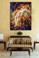 attraction spray - Sexy Nude Girl s Attraction Palette Knife Oil Drawing Printed On Canvas Mural Art Wall Decoration For Home Room Bar