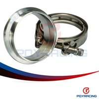 band exhaust clamp - PQY STORE quot SUS Steel Stainless Exhaust V Band Clamp Flange Kit V band Vband Male Female Design PQY5244