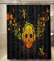 abstract curtains - Abstract Music Pirate Print x180cm Classical Custom Shower Curtain High Quality Polyester Bath Curtain