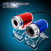 Wholesale 1pcs New High Quality Blue Red USB MP HD Webcam Web Cam Camera for Computer Laptop PC Tablet Degree M Pixels order lt no track