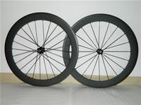Wholesale 60mm Chinese Full Carbon Fiber Wheelset ruedas bicicleta carretera also tubular