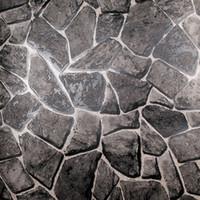 Wholesale Rock Effect Natural Stone Wallpaper Waterproof Embossed Vinyl Rock Stone wall Pattern Grey Wallpaper Kitchen Vintage Wallpaper