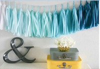 Wholesale 1Bag pieces with rope inch Tissue Paper Tassels Garland DIY Wedding Event Birthday Party Decoration Product Supply ZLS