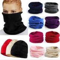 Wholesale 2015 New Arrivals Hot Selling Unisex Thermal Warm Fleece Snood Neck Warmer Scarves Beanie Hat Ski Balaclava Scarf Fx273