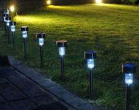 Wholesale NEW FINENAV Waterproof Outdoor Party Landscape LED Solar Plastic Light Durable Garden Path Lighting Lawn Lamps SL