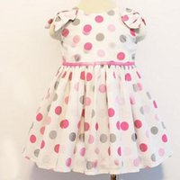 dot ribbon - Lovely Dress New Collection Dresses Korean Style Dresses Large Dots Colorful Dots Dresses Waist Ribbon Dresses Bubble Sleeve Dress