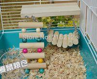Wholesale Fashion Hot Pet Bird Hamster Wooden Toy Rat Mouse Parrot Hanging Ladder Bridge Shelf Cage
