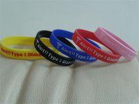 insulin - Mix colors Alert Type Diabets Insulin Dependent Rubber Bracelets P082902